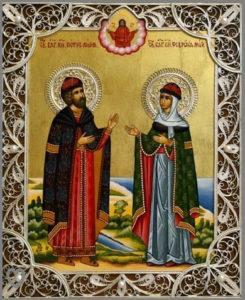 Благоверные Петр и Феврония Муромские икона