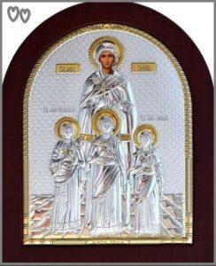 Вера, Надежда, Любовь и мать их София в серебряном окладе