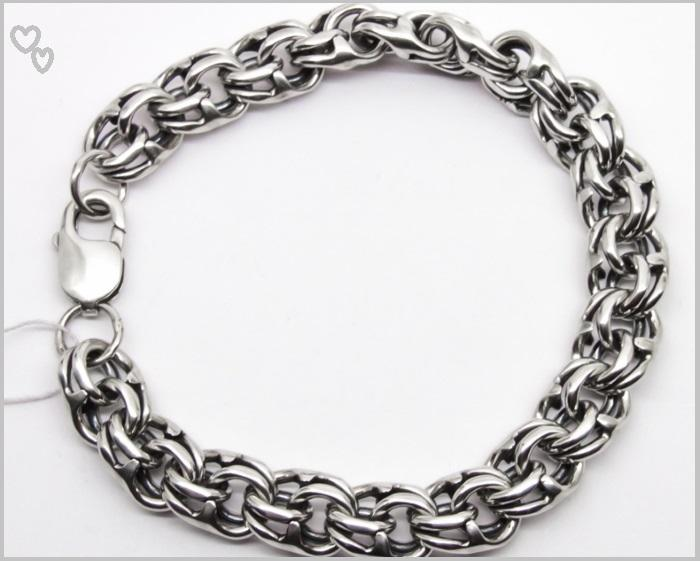 Мужской серебряный браслет на руку