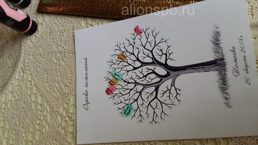 Первые пожелания на дереве