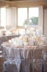Сервировка стола на 25 лет свадьбы