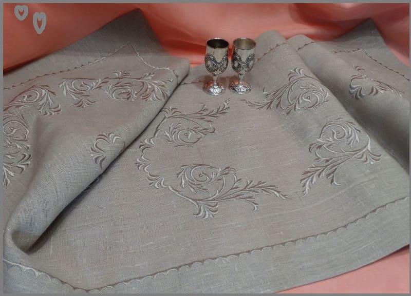 Льняной рушник на свадьбу