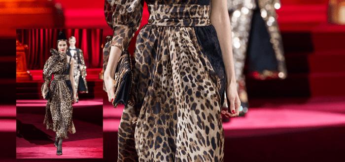 Леопардовая расцветка в платье