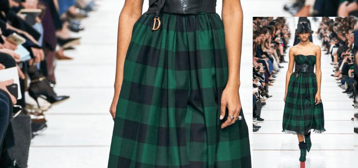 Платье в клетку тренд 2020