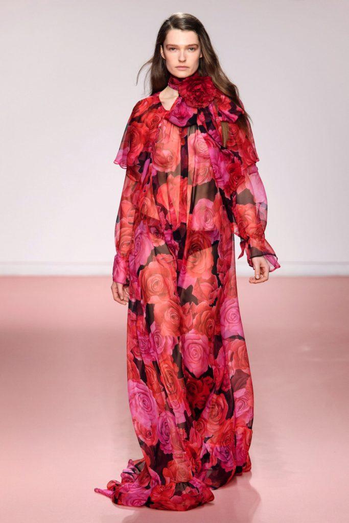 Blumarine платье с модным принтом-красные розы