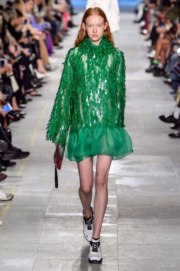 Платье Christopher Kane с блеском бахромы