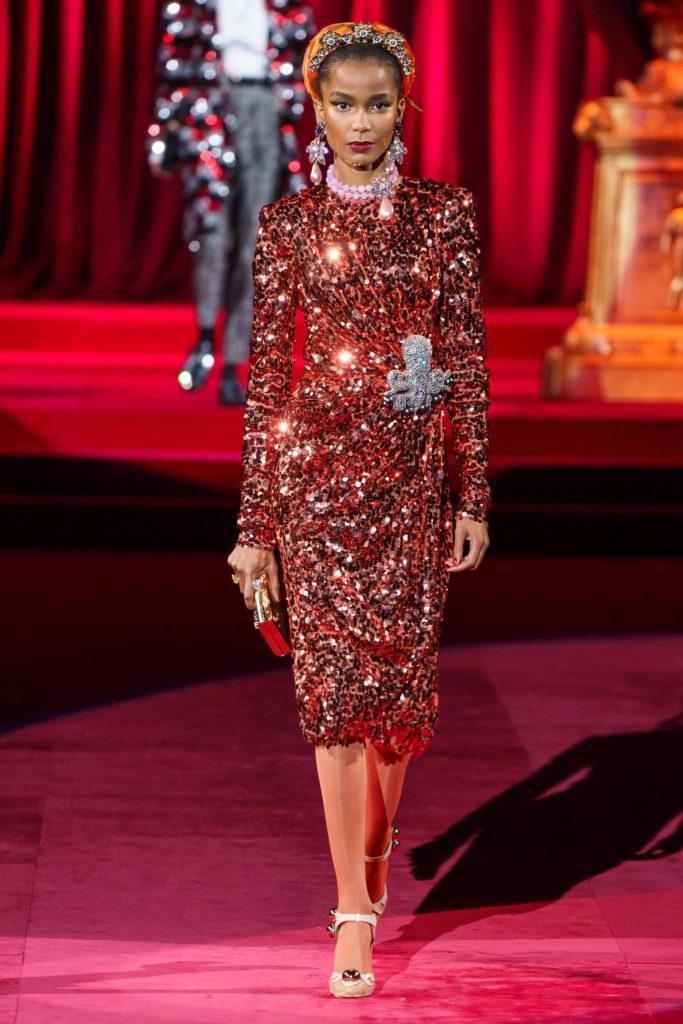 Dolce & Gabbana платье с блеском