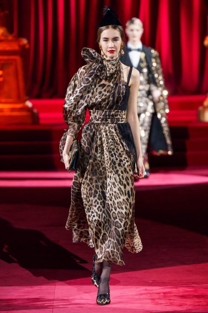 Платье Dolce & Gabbana леопардовой расцветки