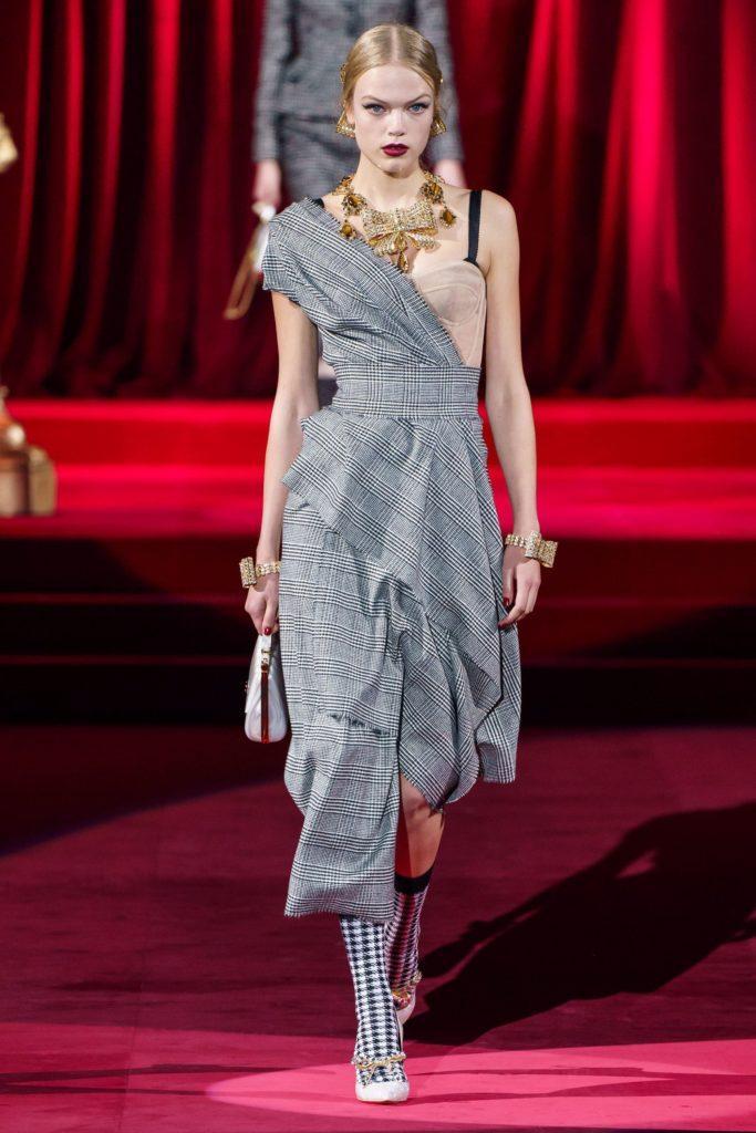 Платье в клетку Dolce & Gabbana