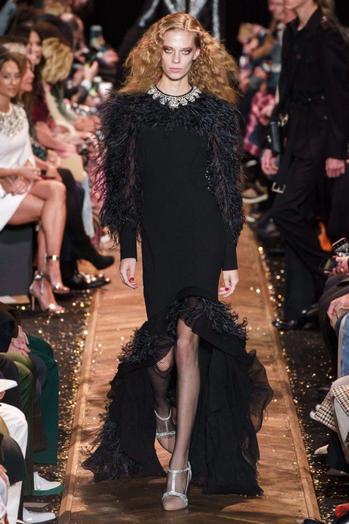 Michael Kors женственное черное платье с перьями