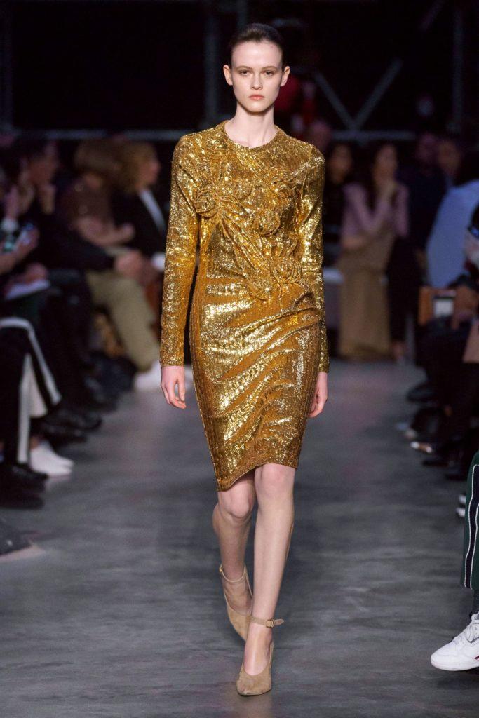 Платье Burberry с блеском