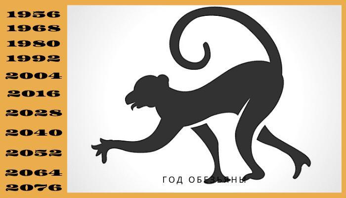 Год обезьяны по китайскому календарю