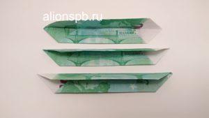 Подготовленные купюры для денежного цветка