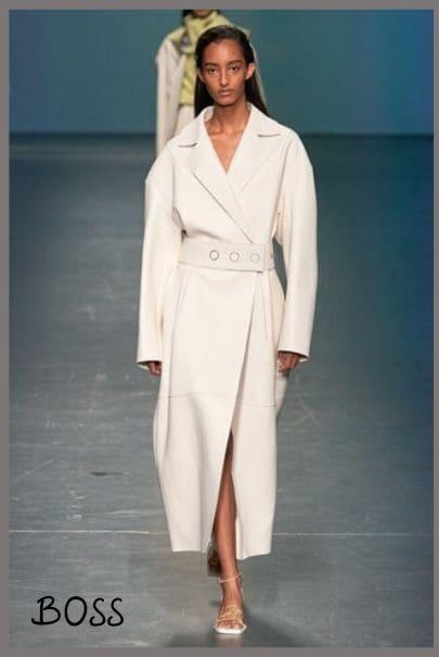 Белый кожаный плащ в модных тенденциях 2020