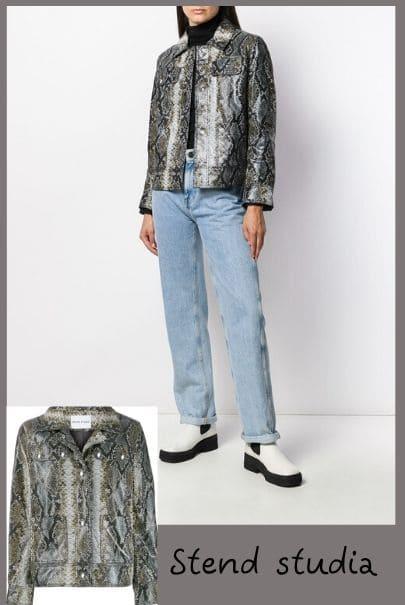 кожаная куртка с принтом питона