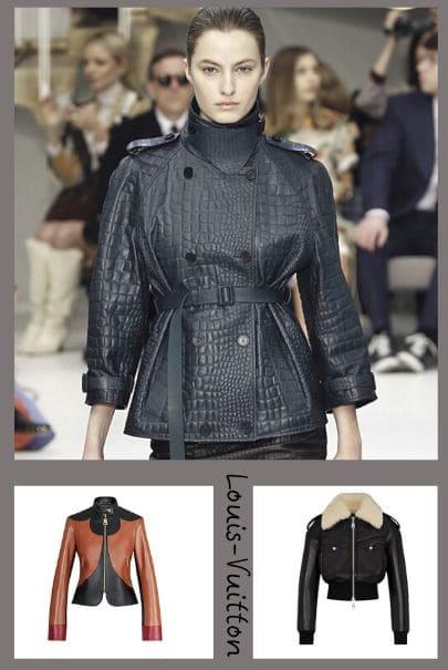 Модная кожаная куртка приталенная и бомбер