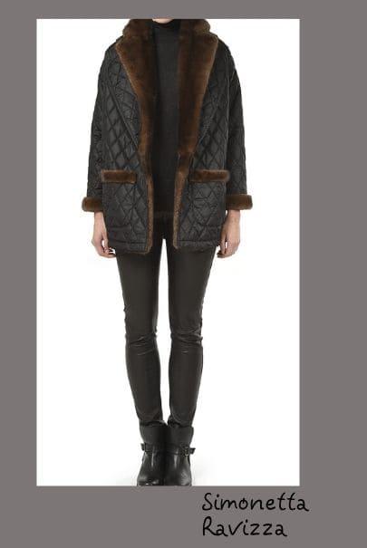 Куртка стеганая с отделкой мехом - модная тенденция