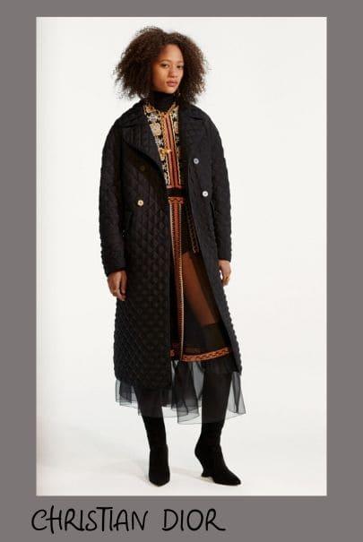 Стеганое пальто в моде