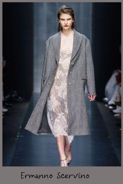 Тенденции моды 2020 - пальто оверсайз в клетку
