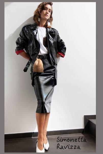Модные тенденции 2020: кожаная куртка и кожаная юбка